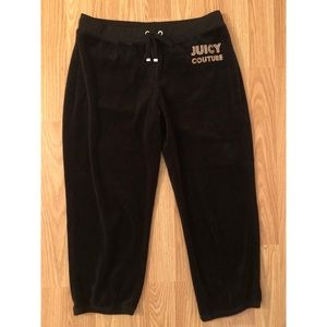 RARE Juicy Couture Cropped Velour Sweatpants